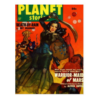 War Maiden on Mars Postcard