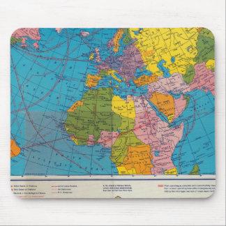 War map Atlantic, Eurasia, Africa, Pacific Ocean Mouse Pad