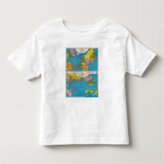 War map Atlantic, Eurasia, Africa, Pacific Ocean Toddler T-shirt