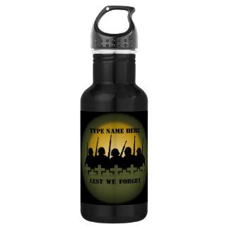 War Memorial Bottle Lest We Forget 18oz Water Bottle