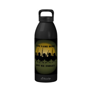 War Memorial Bottle Lest We Forget Water Bottle