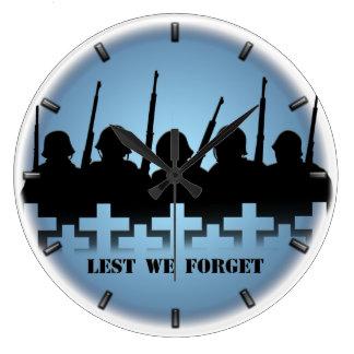 War Memorial Clock Lest We Forget War Heroes Decor
