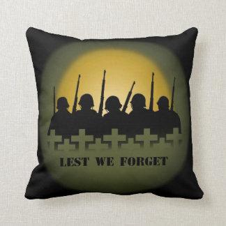 War Memorial Pillow Lest We Forget Heroes Pillow