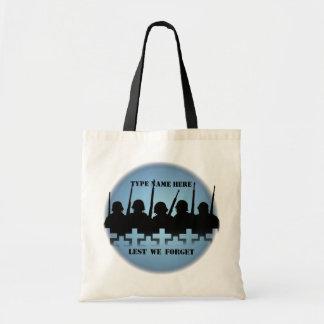 War Memorial Tote Bag Peace Lest We Forget