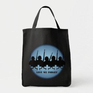 War Memorial Tote Bag Peace Lest We Forget Bags