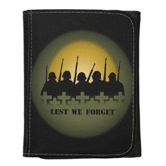 War Memorial Wallet Soldier Lest We Forget Wallets