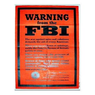 War Ning From The Fbi Postcard
