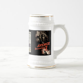 WAR! OAHU BOMBED BY JAPANESE PLANES BEER STEIN