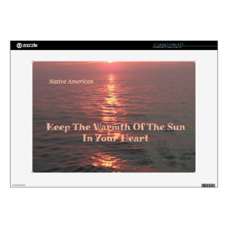 war Ocean Sunset Native American Saying Design Laptop Skin