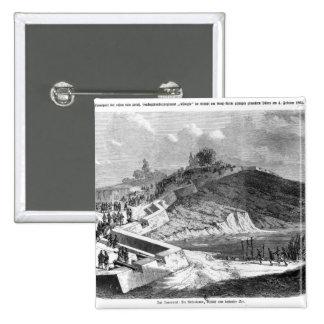 War of Duchies, Danish fortifications Pinback Button