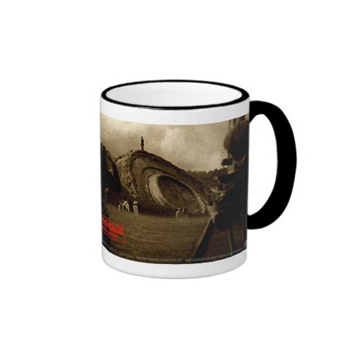 War Of The Worlds Martian Pit Cylinder Filmmed Coffee Mugs
