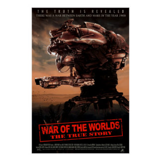 War Of The Worlds The True Story XLG Movie Poster