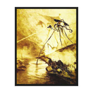 War of the Worlds Tripod - Martian Invasion Canvas