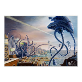 War of the Worlds Vs. Cthulhu Poster