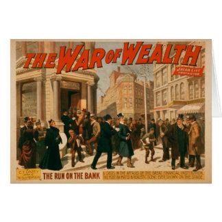 War of Wealth - 1895 Greeting Card