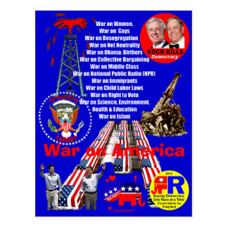 War on America - Postcard