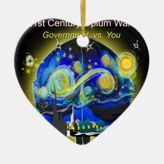 War on Brains Poster Ceramic Ornament