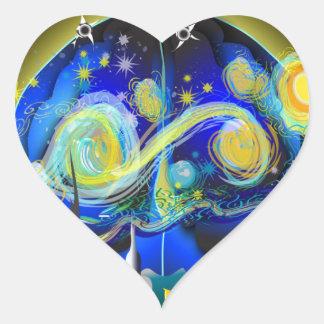 War on Brains Poster Heart Sticker