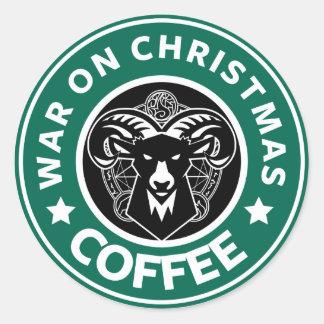 War On Christmas Round stings Glossy Classic Round Sticker