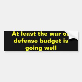 War on defense bumper sticker