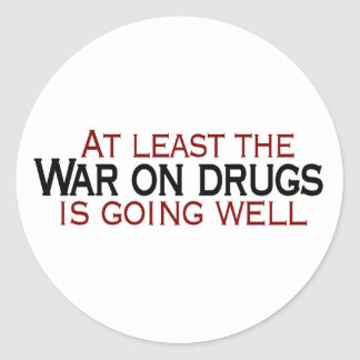 War On Drugs Classic Round Sticker