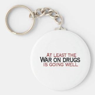 War On Drugs Basic Round Button Keychain