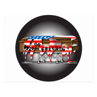 War on Freedom Badge Postcard