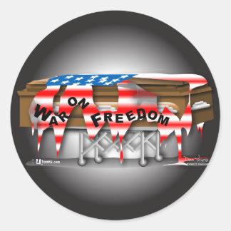 War on Freedom Badge Round Stickers