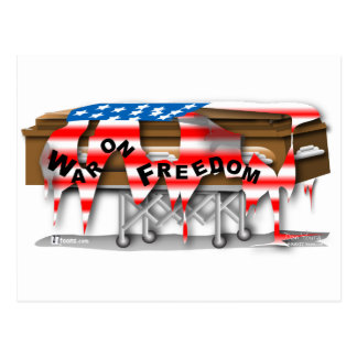 War on Freedom Casket Postcard