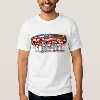War on Freedom Casket T Shirts