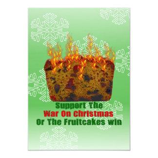War On Fruitcakes Card