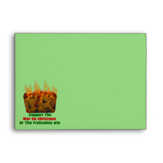 War On Fruitcakes Envelope