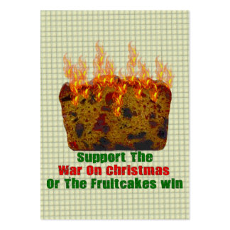 War On Fruitcakes Large Business Card