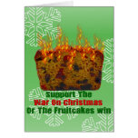War On Fruitcakes Stationery Note Card