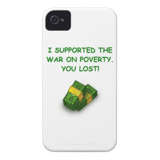 war on poverty iPhone 4 cases