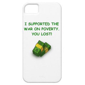 war on poverty iPhone 5 cases