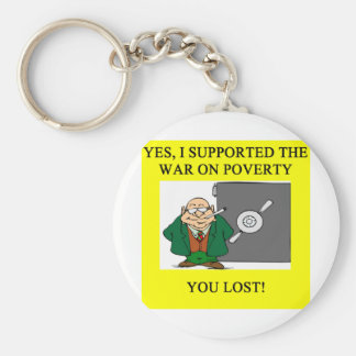 war on poverty keychain