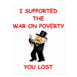 war on poverty postcard