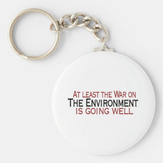 War On The Environment Basic Round Button Keychain