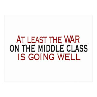War On The Middle Class Postcard