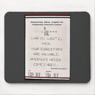 War On Waste Men Your Suggestions Are Valuable. Am Mouse Pad