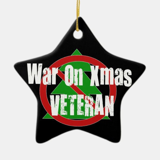 War On Xmas Veteran Ceramic Ornament