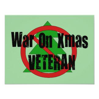 War On Xmas Veteran 4.25x5.5 Paper Invitation Card