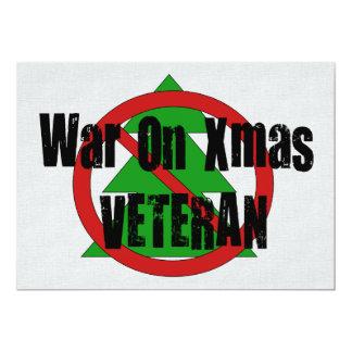 War on Xmas Veteran 5x7 Paper Invitation Card