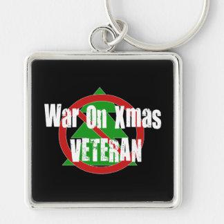 War on Xmas Veteran Keychain