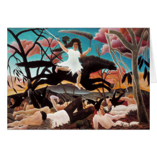 War or the Ride of Discord, Henri Rousseau Card