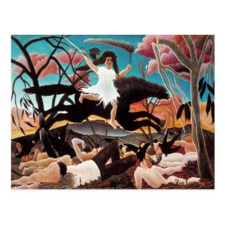 War or the Ride of Discord, Henri Rousseau Postcard