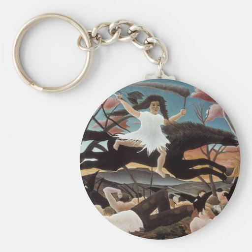 War or the Ride of Discord Keychain