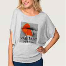War Paint Orange lips MS awareness tshirt