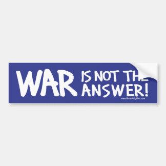 War Peace Bumper Sticker